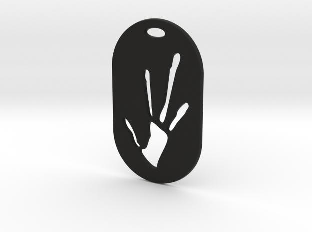 Alien Hand Print in Black Premium Versatile Plastic