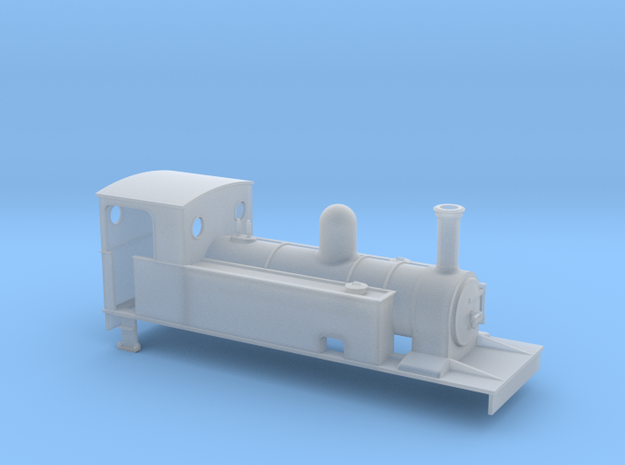 OO Freelance 4-4-0T tank loco in Smooth Fine Detail Plastic