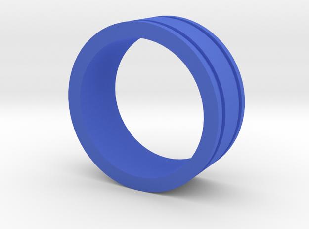 Ring Engraved Lines in Blue Processed Versatile Plastic