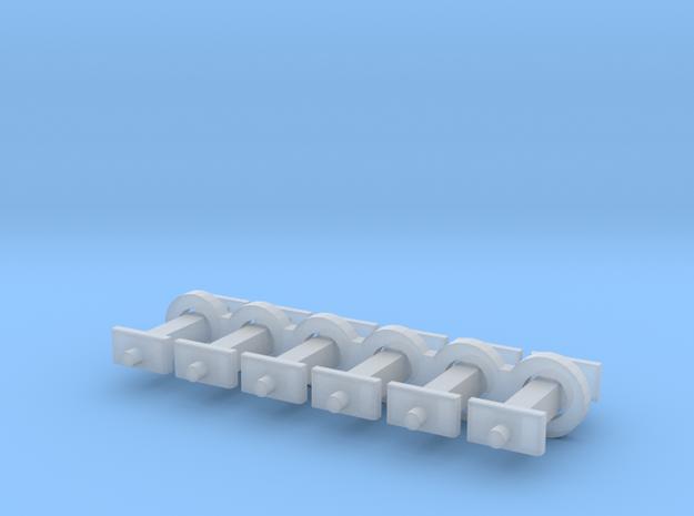 N Scale 8mm Fixed Coupling Drawbar x6