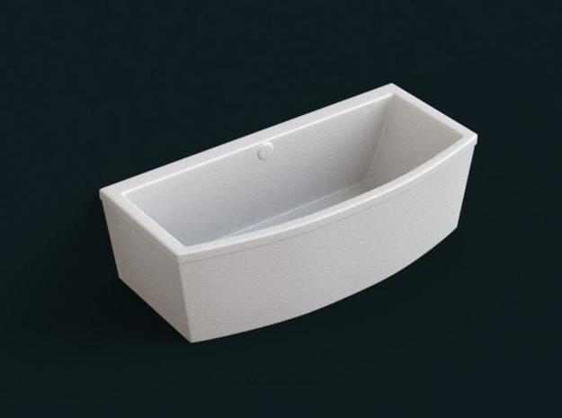 1:39 Scale Model - Bath Tub 04 in White Natural Versatile Plastic
