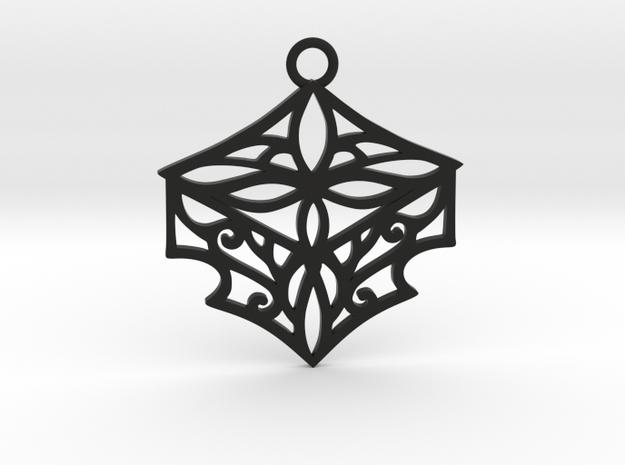 Adalina pendant in Black Natural Versatile Plastic: Large