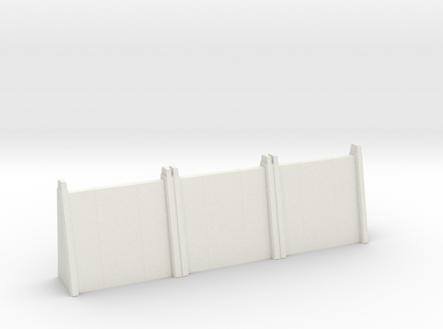 Large Wall Section in White Natural Versatile Plastic: 6mm