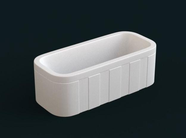 1:39 Scale Model - Bath Tub 06 in White Natural Versatile Plastic