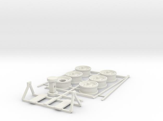 DAF TA oplegger onderdelen, schaal 1:50 in White Natural Versatile Plastic