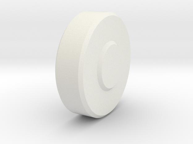 sls-narrow-lg-roller in White Natural Versatile Plastic