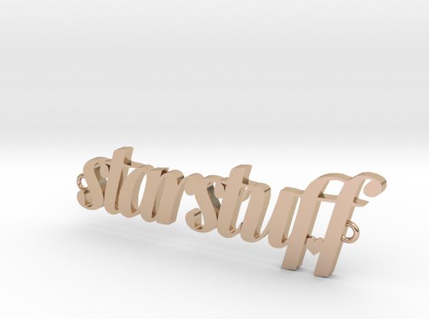 Starstuff pendant in 14k Rose Gold Plated Brass