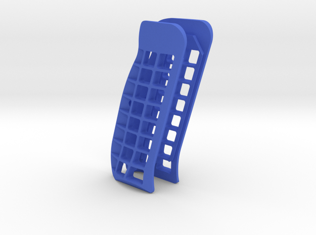 CZ Palm shaped Cutaway grips in Blue Processed Versatile Plastic
