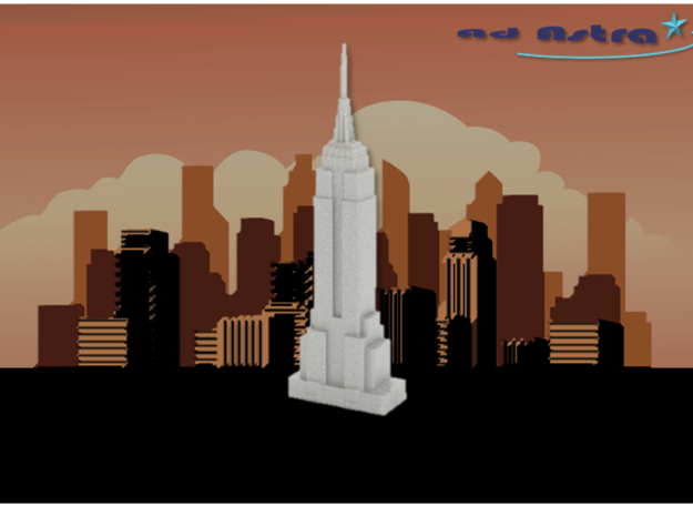 Empire State Building - New York (1:4000) in White Natural Versatile Plastic