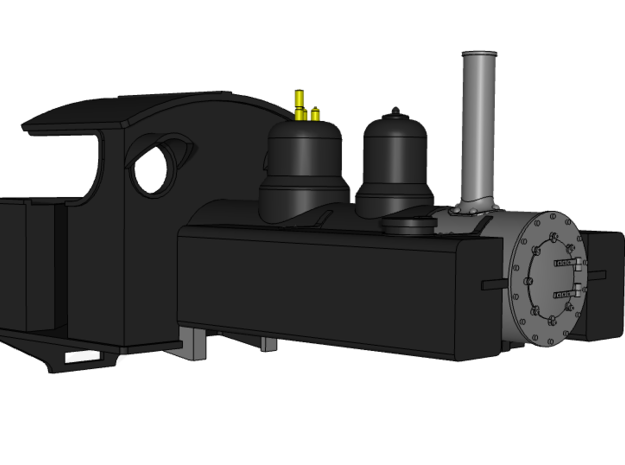 Baldwin 4-6-0 On30 Body in White Natural Versatile Plastic