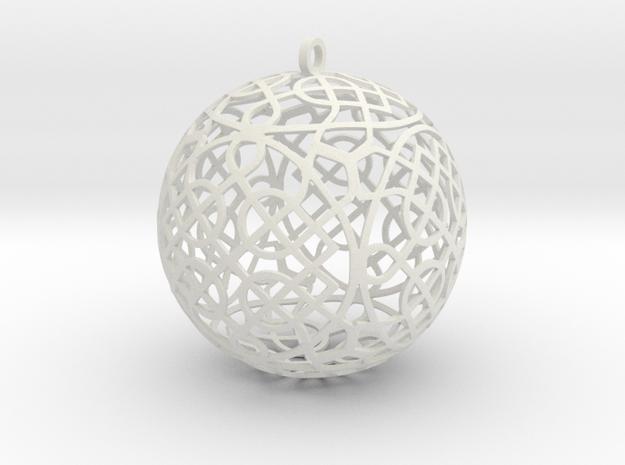 Celtic Knot  Ornament (4) in White Natural Versatile Plastic