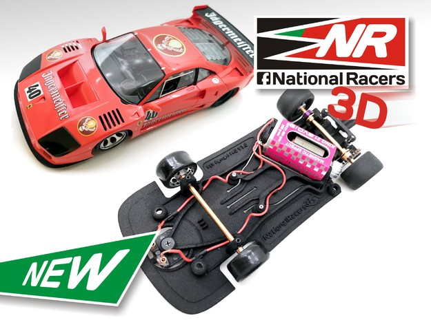 3D Chassis - Fly Ferrari F40 Anglewinder AllinOne