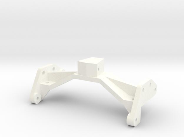 1/24 Rammunition Rear shock bracket in White Processed Versatile Plastic
