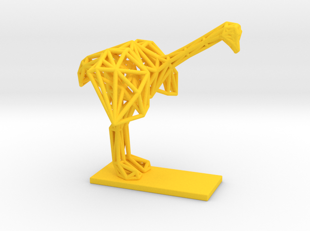 Ostrich (Young) in Yellow Processed Versatile Plastic