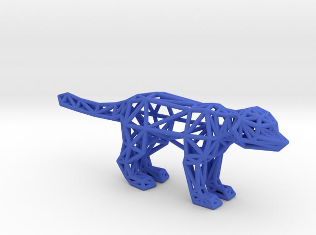 Meerkat (adult) in Blue Processed Versatile Plastic