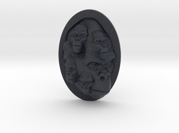 Gorilla Multi-Faced Caricature (006) in Black PA12