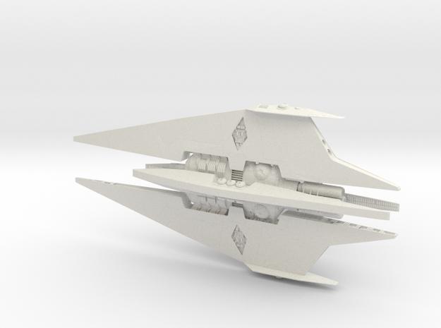 Narn - BinTak Dreadnought (4.998 x / 2.368 y / 1.4 in White Natural Versatile Plastic