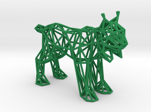 Spanish Lynx (adult) in Green Processed Versatile Plastic