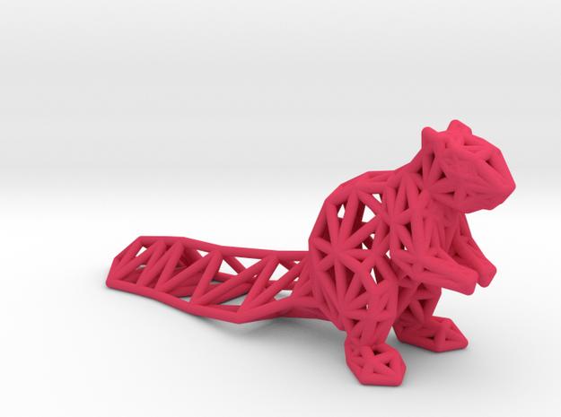 Squirrel in Pink Processed Versatile Plastic