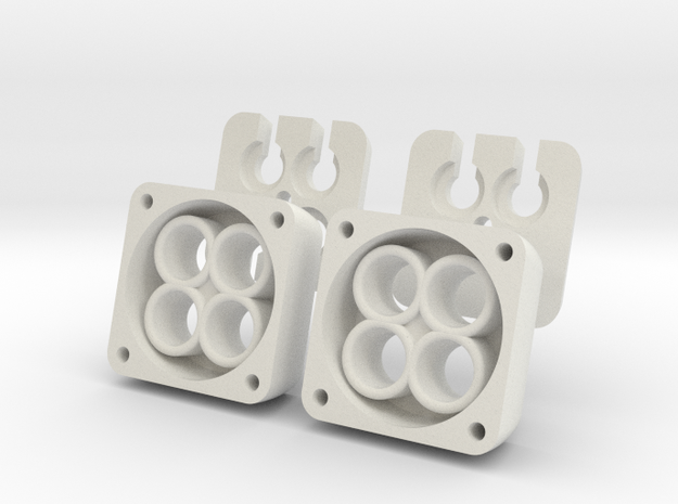 VS410 Vanquish 4 LED Headlight Bucket V2 4piece  in White Natural Versatile Plastic