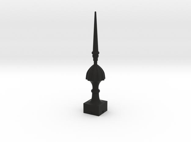 Signal Finial (Victorian Spike) 1:24 scale in Black Natural Versatile Plastic
