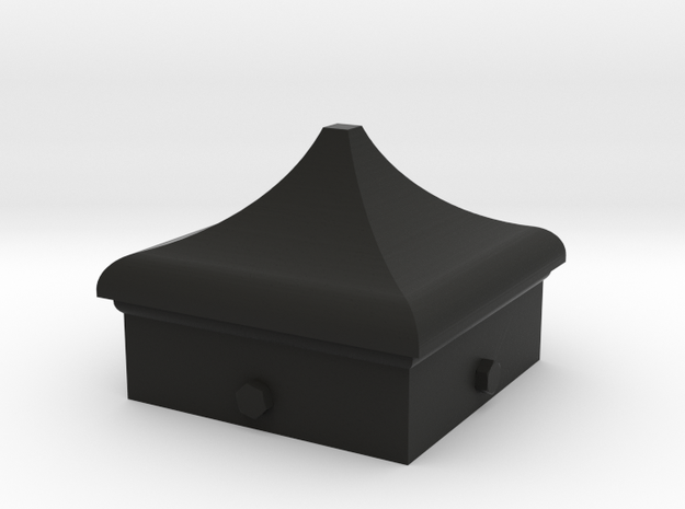 Signal Finial (Square Cap) 1:24 scale in Black Natural Versatile Plastic