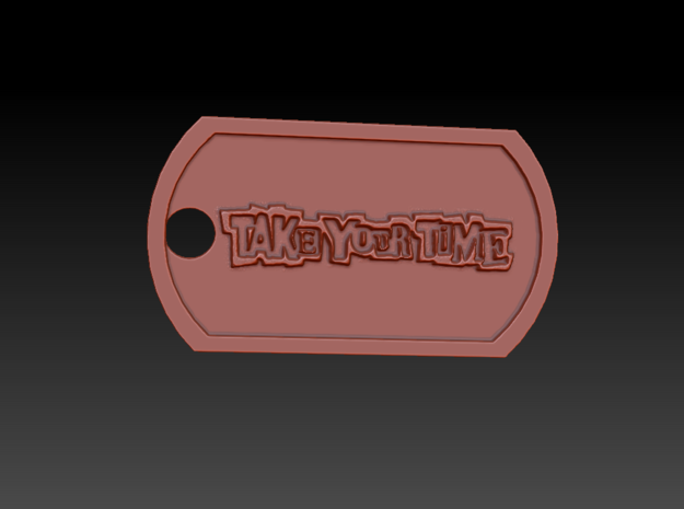 Persona 5 'Take Your Time' Themed Dog Tag in Polished and Bronzed Black Steel