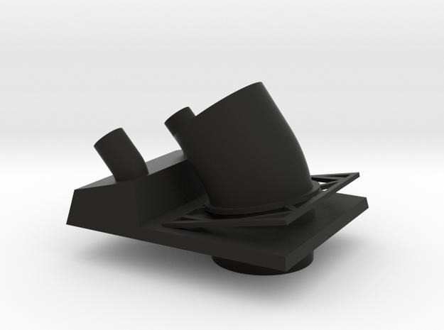 1/96 Bergamini - Main Stack in Black Natural Versatile Plastic