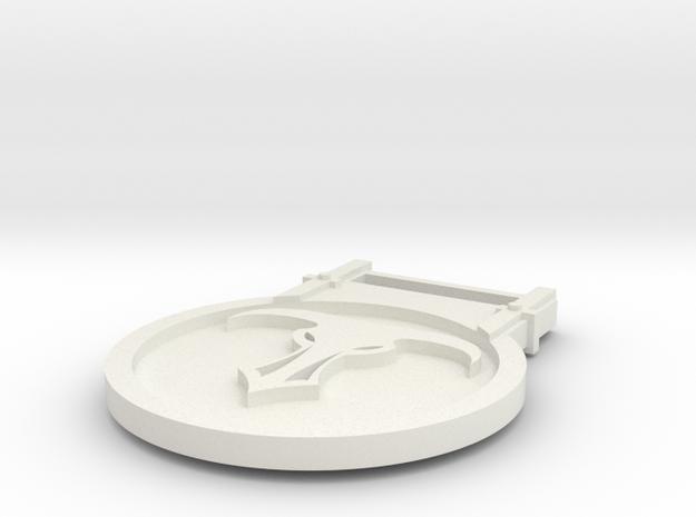 Minotaurs Id Tag in White Natural Versatile Plastic