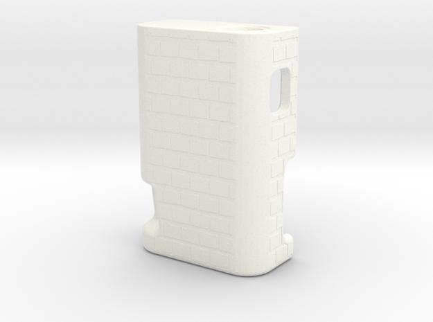 BRCK3D Mech Squonk Mod  in White Processed Versatile Plastic