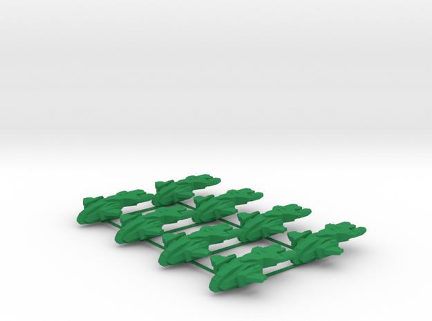 UNSC Pelican - 8 Sprue - Halo Risk in Green Processed Versatile Plastic