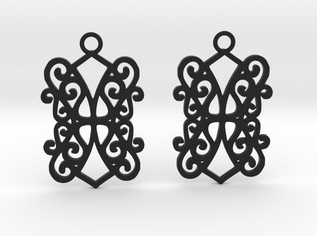 Ealda earrings in Black Natural Versatile Plastic: Small
