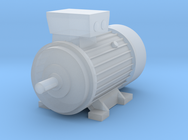 Electric Motor Size 3 in Smooth Fine Detail Plastic