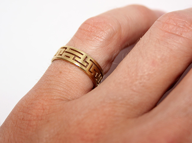Maze ring size 7 3d printed