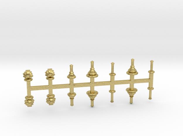 bay Dachaufsätze 2 - 1:120 TT Messing in Natural Brass