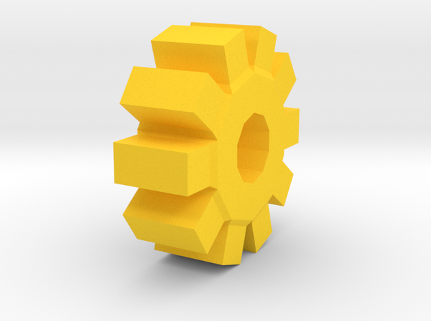 Gear of the Knitty in Yellow Processed Versatile Plastic