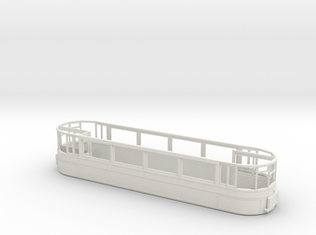 "1:43 London Transport "" Clapham"" E1 Tram - Part 2 in White Natural Versatile Plastic"