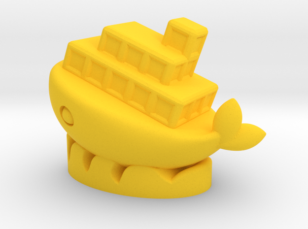 Smile Ship in Yellow Processed Versatile Plastic
