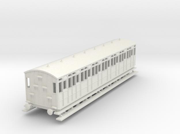 o-76-metropolitan-8w-short-brake-coach in White Natural Versatile Plastic