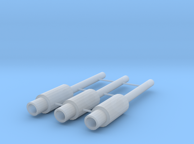 1/64 Scale JDM Type Exhaust with 2.5 mm Tip in Smoothest Fine Detail Plastic