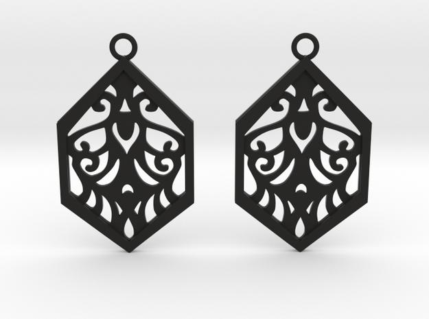 Aaricia earrings in Black Natural Versatile Plastic: Small