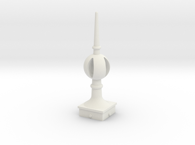 Signal Finial (Open Ball) 1:6 scale in White Natural Versatile Plastic
