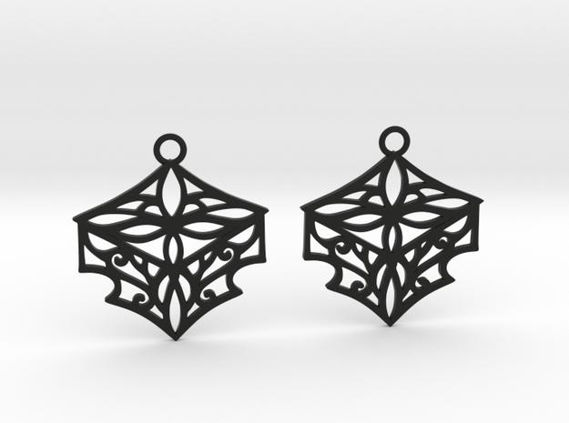 Adalina earrings in Black Natural Versatile Plastic: Small