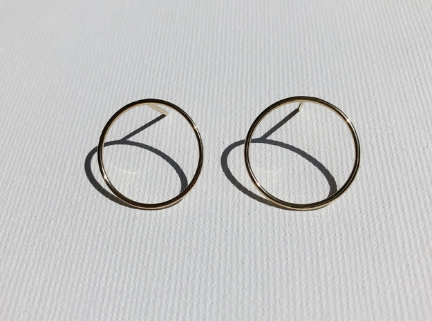 Billabong Circle Earrings in 18k Gold Plated Brass