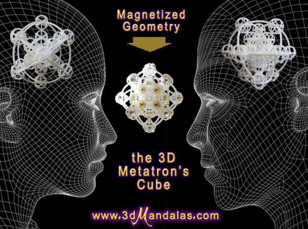 3D Metatron's Sphere: based on Metatron's Cube in White Natural Versatile Plastic