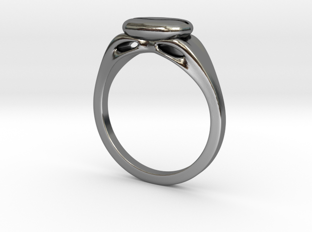 The Coffee Ring in Fine Detail Polished Silver