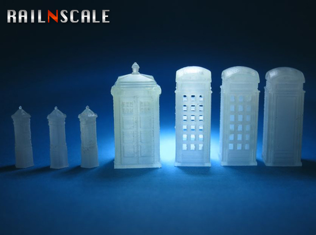 Street furniture SET (N 1:160) 3d printed