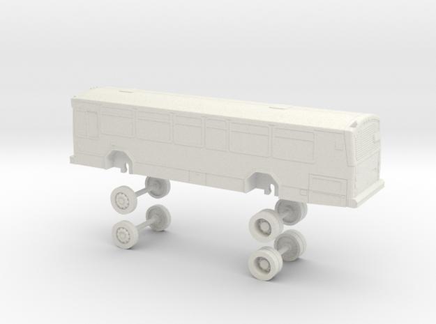 HO Scale Bus Gillig Phantom AC Transit 2050s in White Natural Versatile Plastic