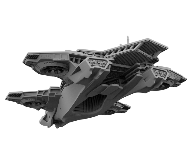 Avengers - Hellicarrier (180mm for WSF) 3d printed