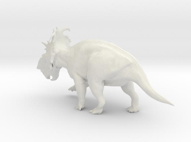 Pachyrhinosaurus 1:40 scale model in White Natural Versatile Plastic